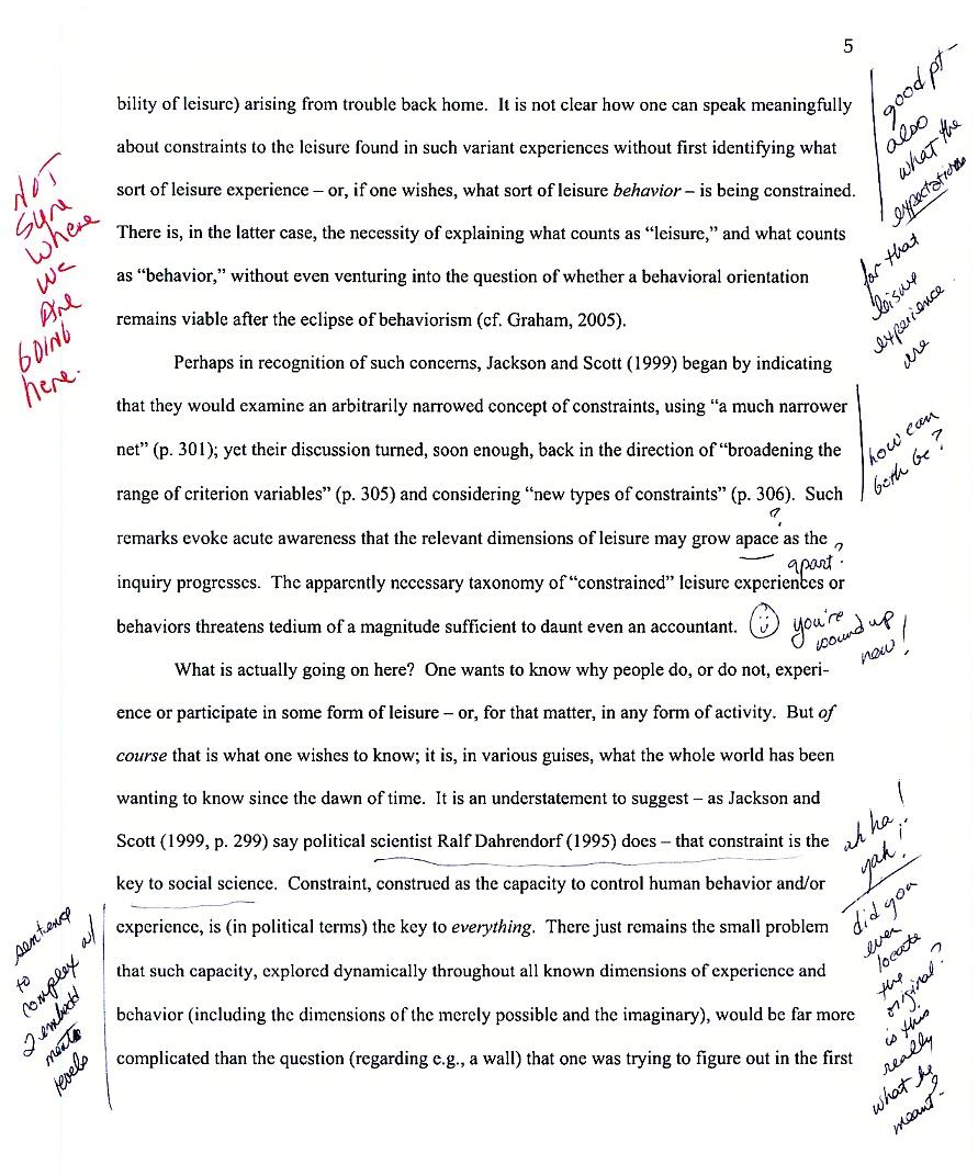graded essay examples